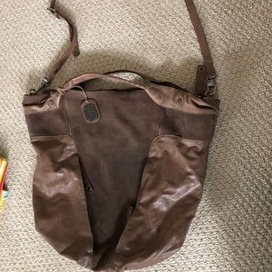 Soft brown leather  bag